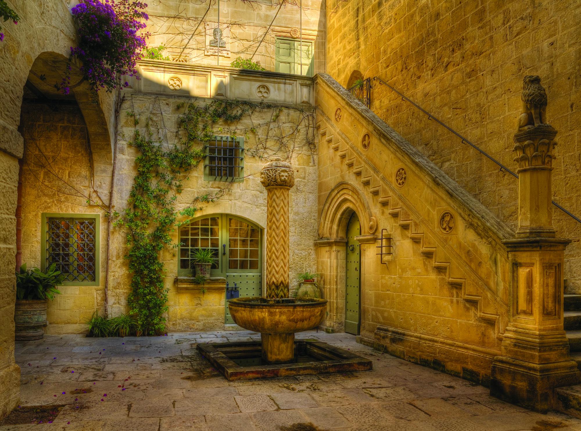 Courtyard at Palazzo Falson