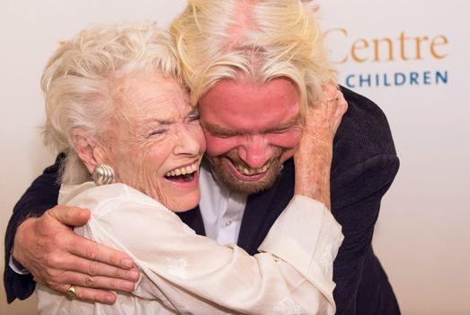 Richard Branson and his Mum