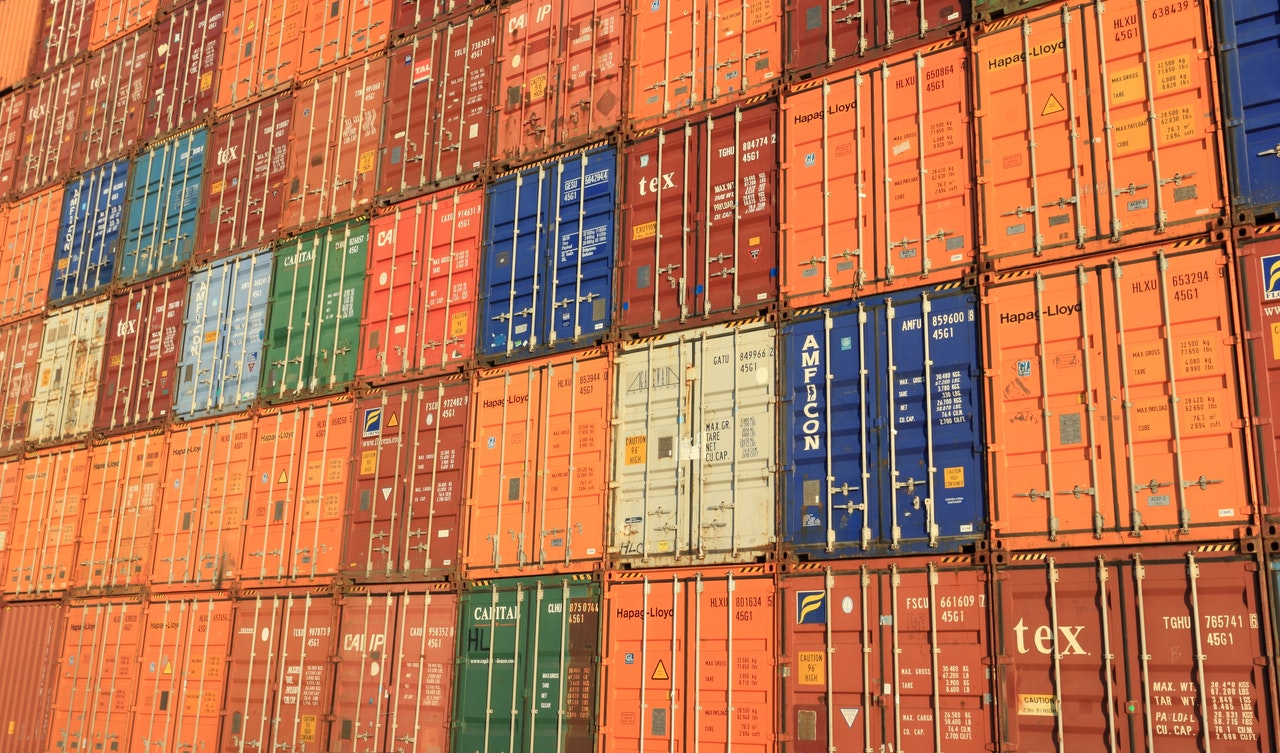 trade shipping container