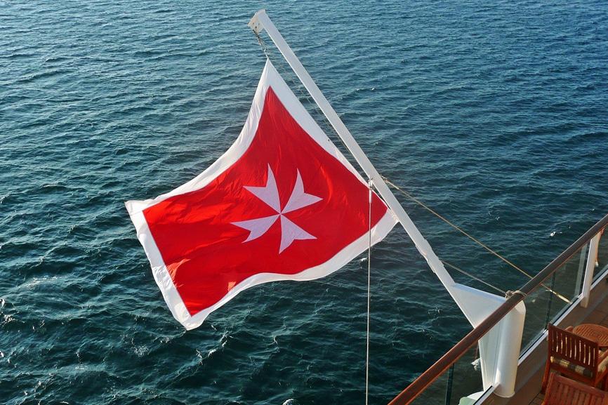 Malta maritime flag