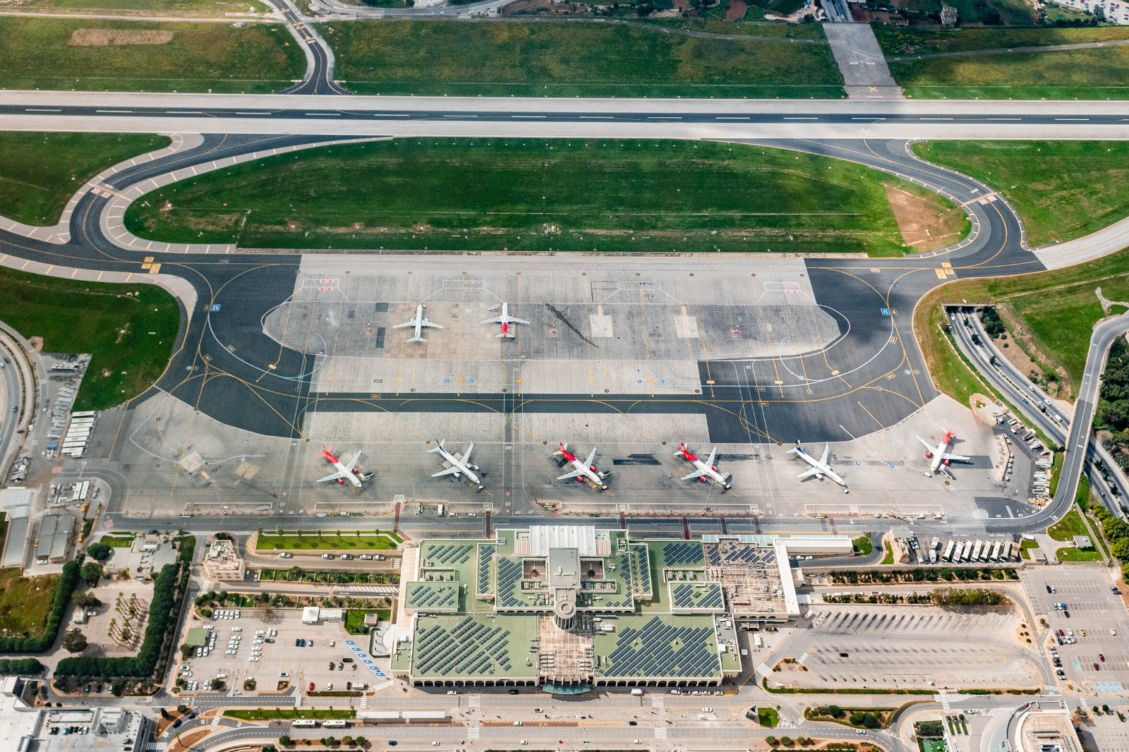 Malta International Airport Aerial 2
