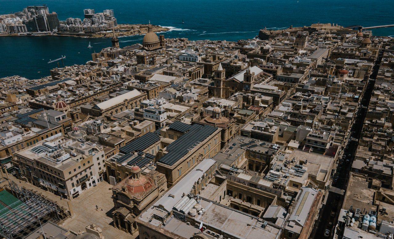 Malta valletta birds eye